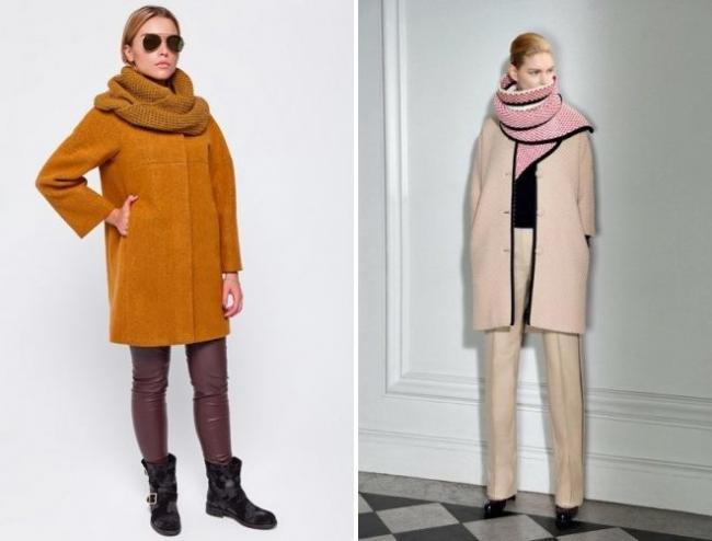 шарф к пальто без воротника