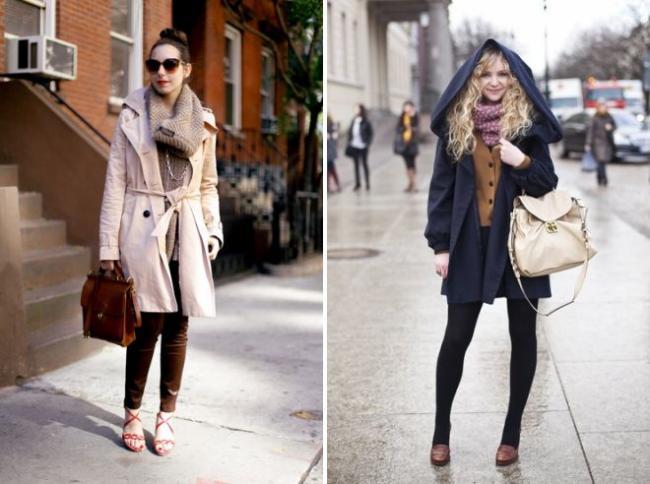 как носить шарф на пальто с капюшоном